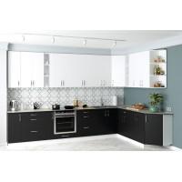 Кухня Соло вариант 1 в цвете zenit antracita md,zenit blanco sm