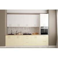 Кухня Соло вариант 6 в цвете zenit magnolia sm, zenit blanco sm