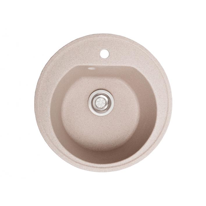 Мойка Solid КЛАССИК D510 розовый песок (с отверстием под смеситель) искусственный камень
