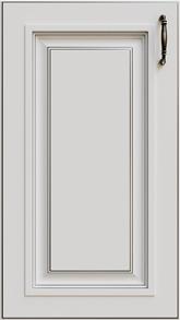 Белый + Патина Серебро