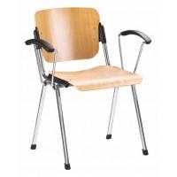 ERA arm wood chrome офисный стул Новый стиль