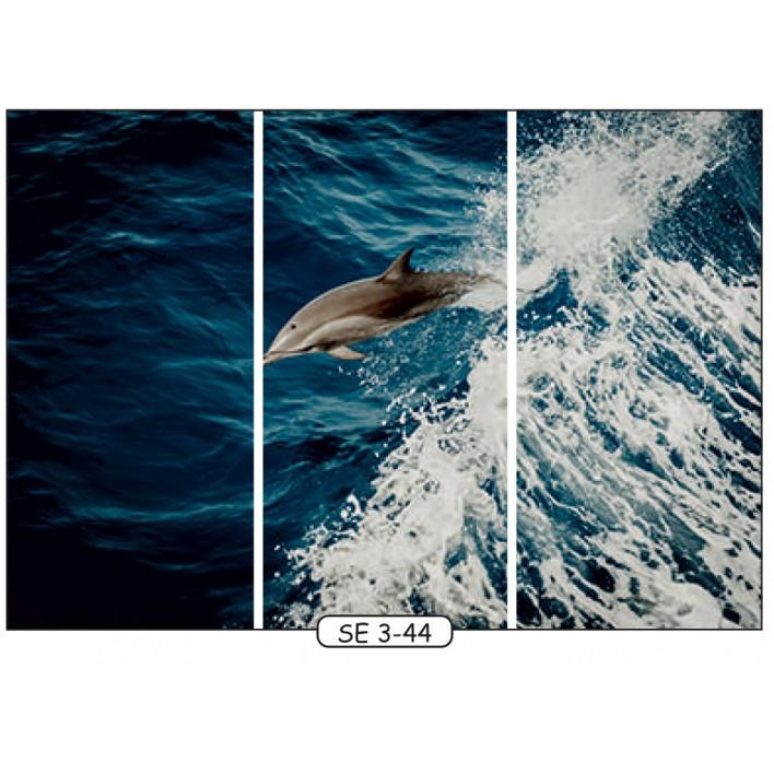 Фотопечать на 3 двери рис.SE-3-44 - Море - Феникс