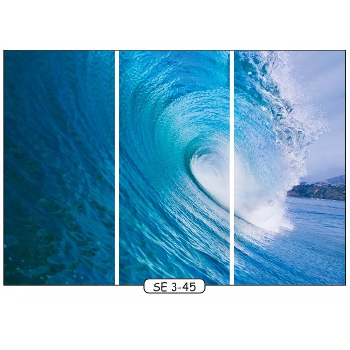 Фотопечать на 3 двери рис.SE-3-45 - Море - Феникс