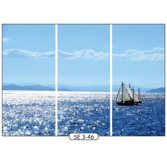 Фотопечать на 3 двери рис.SE-3-46 - Море - Феникс