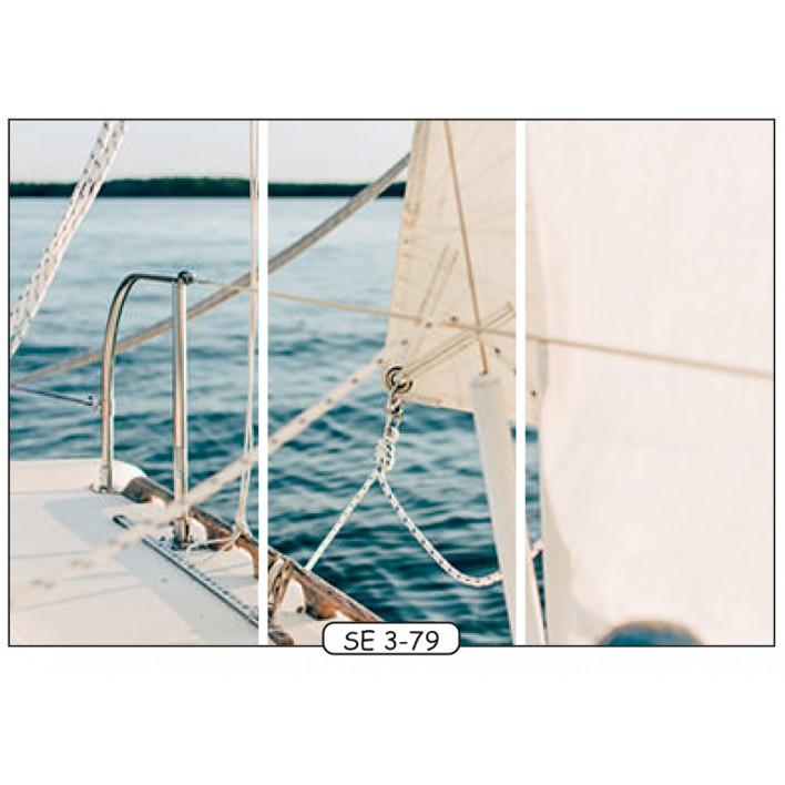 Фотопечать на 3 двери рис.SE-3-79 - Море - Феникс
