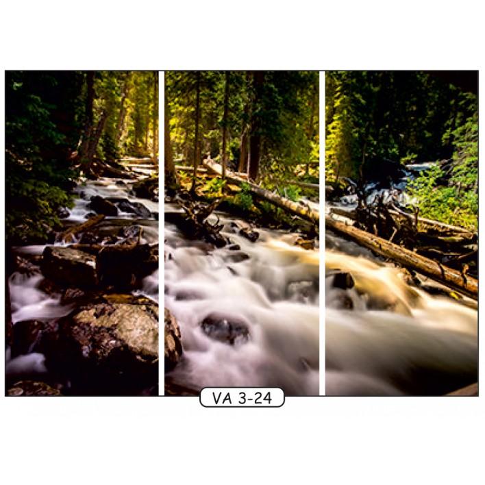 Фотопечать на 3 двери рис.VA-3-24 - Водопады - Феникс