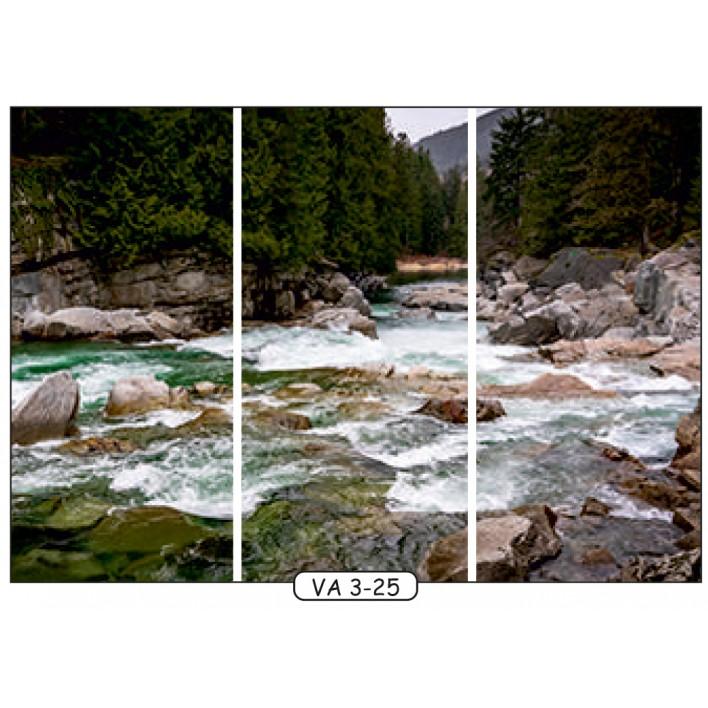 Фотопечать на 3 двери рис.VA-3-25 - Водопады - Феникс
